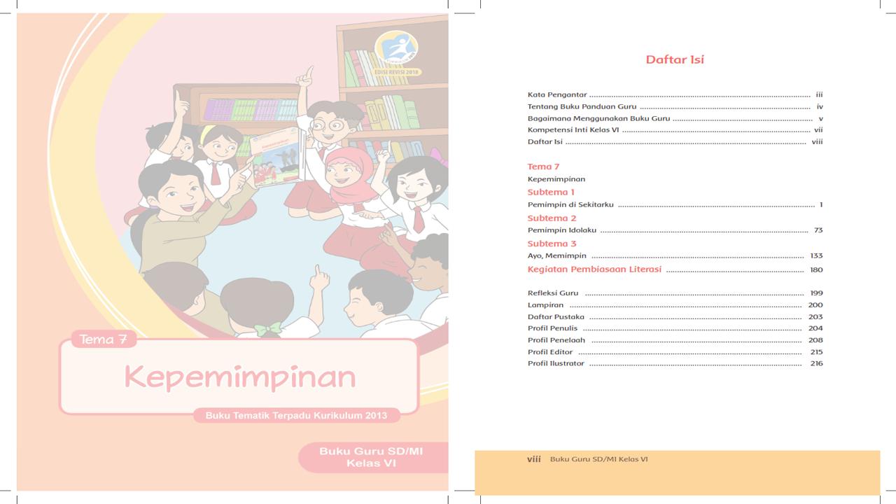 RPP Tematik Kelas 6 Tema 7 Kurikulum 2013 Revisi 2018