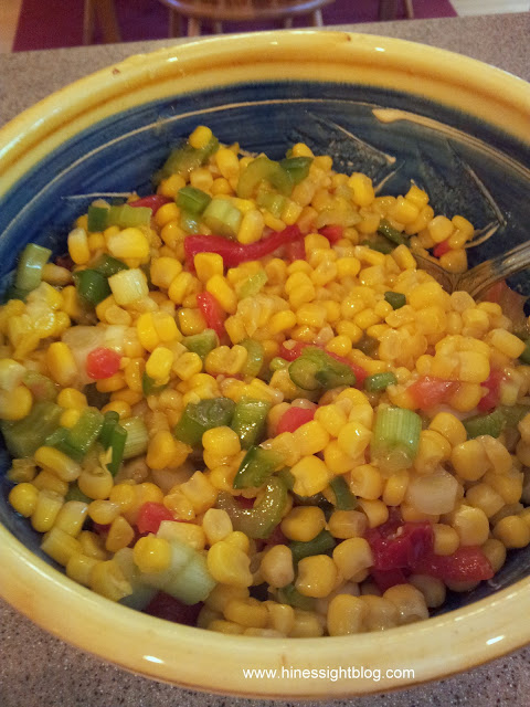 easy, shoe peg corn salad.