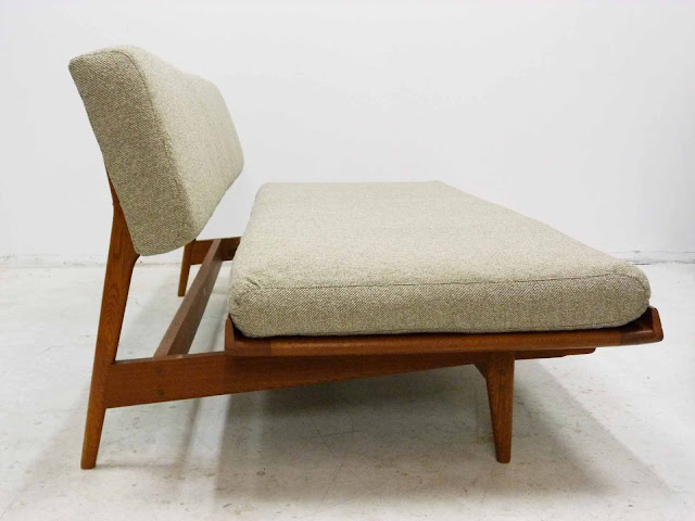 J.O. Carlsson Midcentury Sofa Daybed Side View Pull Out