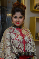 Anya South Actress model in Red Anarkali Dress at Splurge   Divalicious curtain raiser ~ Exclusive Celebrities Galleries 012.JPG