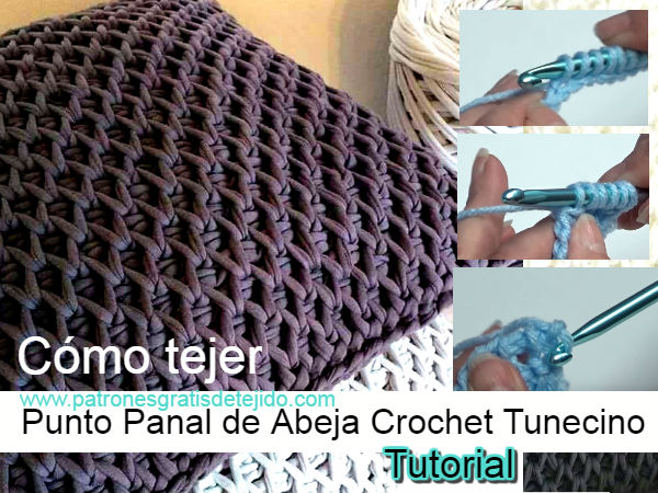 puntada-panal-de-abeja-crochet-tunecino-tutorial