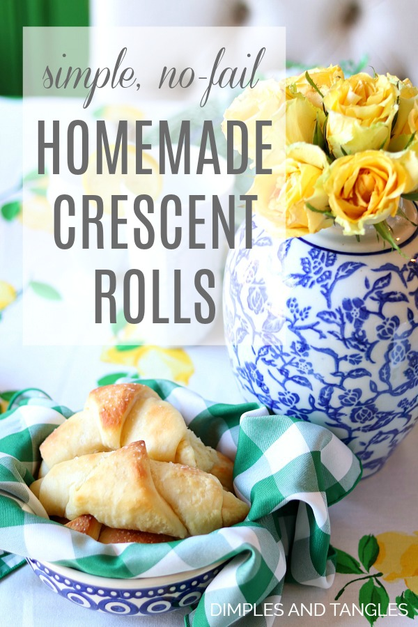 homemade bread, easy rolls, crescent rolls