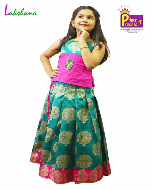 kids pattu pavadai langa traditional ethnic wear