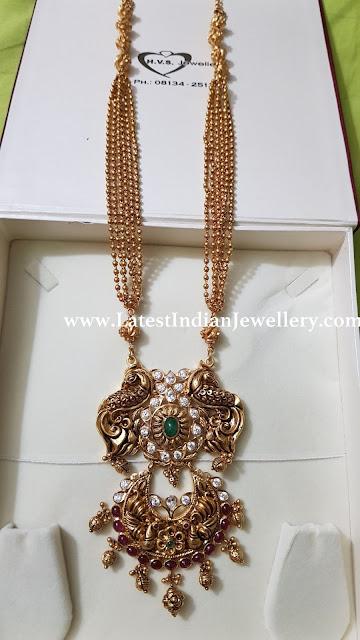 Pure Gold Haram Nakshi Pendant
