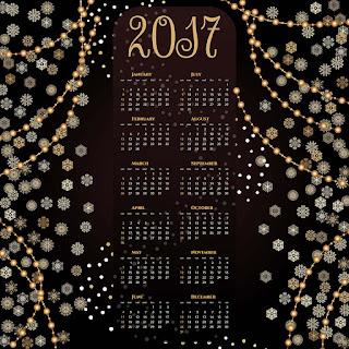 2017カレンダー無料テンプレート156