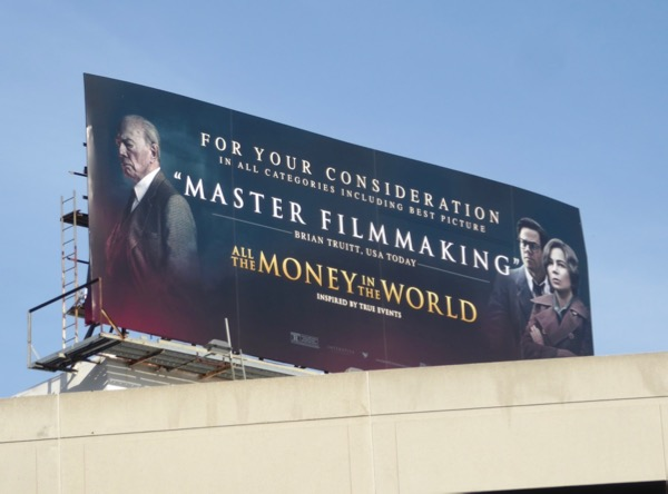 All Money in World master filmmaking billboard