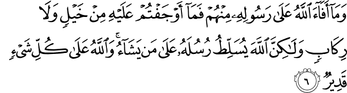 Surat Al-Hasyr Ayat 6