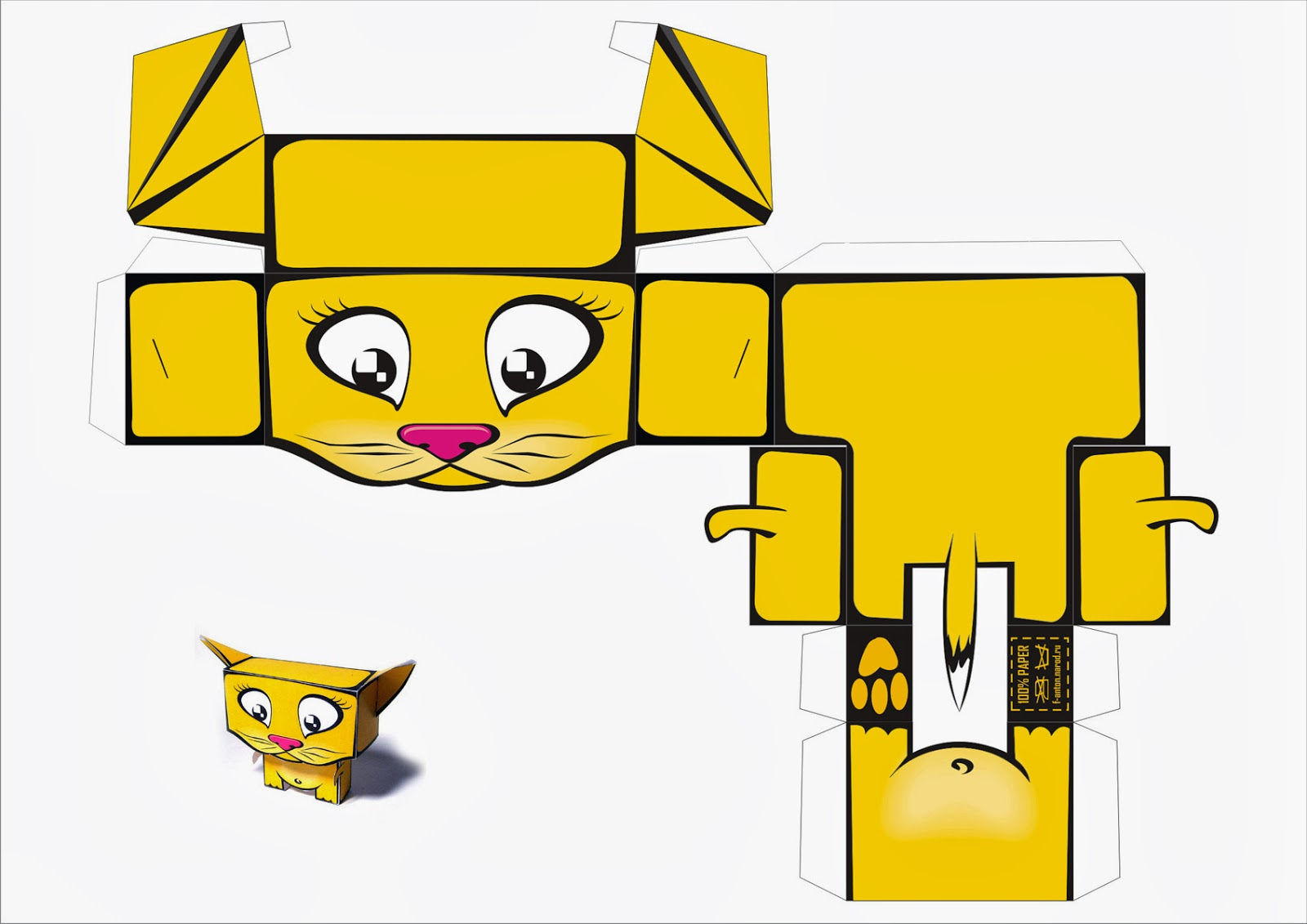 Free Printable 3D Cats  Paper Toys  - Oh My Fiesta! in english