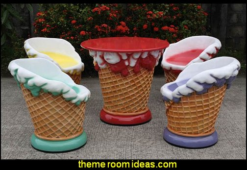 Ice Cream Display Statue - Ice Cream Cone Statue cupcakes bedroom ideas - cupcakes theme candy decorating candyland sweets - cupcake bedding - cupcake decor - candy decor -  Ice Cream decor - cupcakes and candy bedroom ideas - candy theme bedroom - cupcakes and candy decor - Candy party props - Candy party decorations - candyland gingerbread decorations