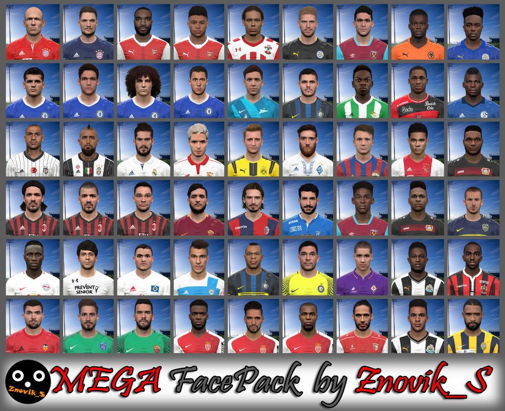 PES 2017 MEGA FacePack by Znovik_S