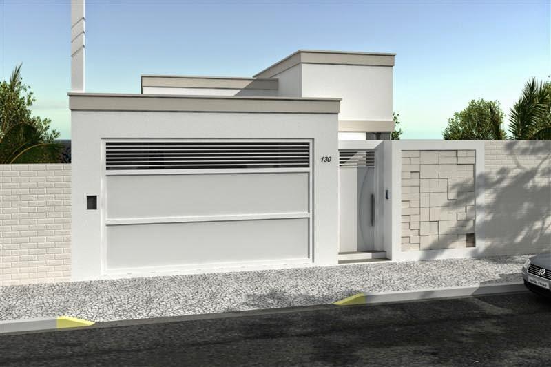20 fachadas de casas modernas com muros e port es decor for Fachadas de entradas de casas