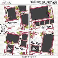 Template : Paper Play 30 by Akizo Designs