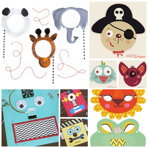 mascaras imprimibles carnaval