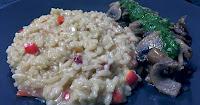 Ριζότο με μανιτάρια & πέστο ρόκας  - by https://syntages-faghtwn.blogspot.gr
