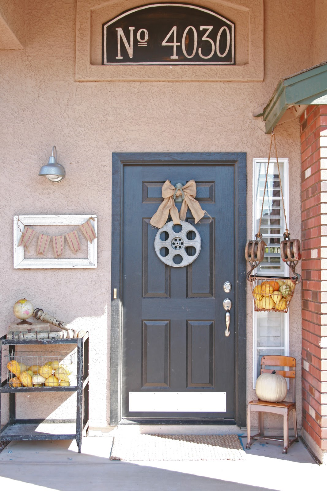 grand design  fall front door decor