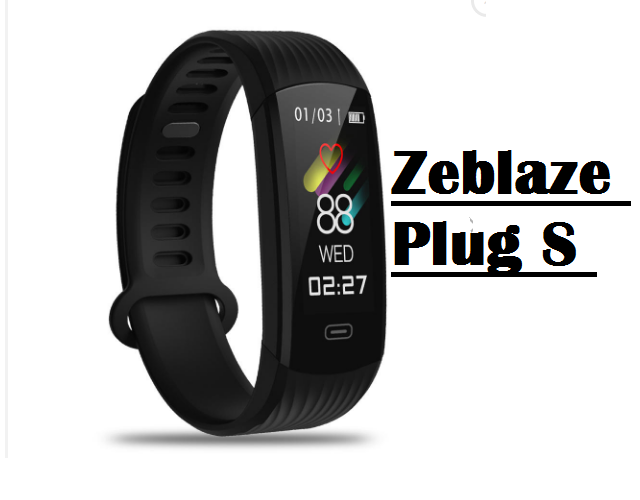 Zeblaze Plug S Smartband Features