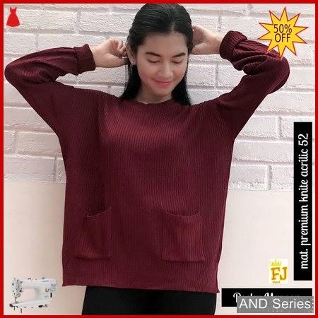 AND047 Sweater Wanita Pocky Merah Maroon BMGShop