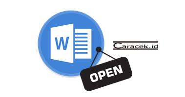 Cara Membuka Microsoft Word - Tugas TIK