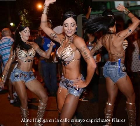 Aline Huelga danza en calle de brasil