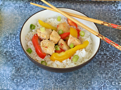 Thai Ginger Chicken with Basil Stir Fry using Dorot Garlic and Herbs