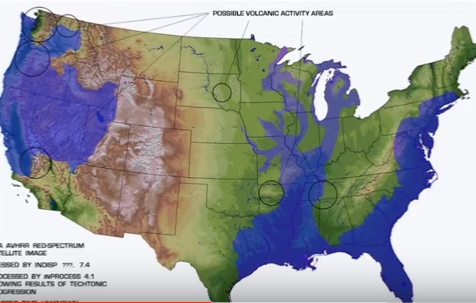 Earthquake Prediction The Continents After A Pole Shift A Theory - Pole shift future us map
