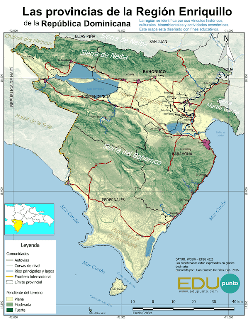 edupunto,region,enriquillo,dominicana,geografia,mapa