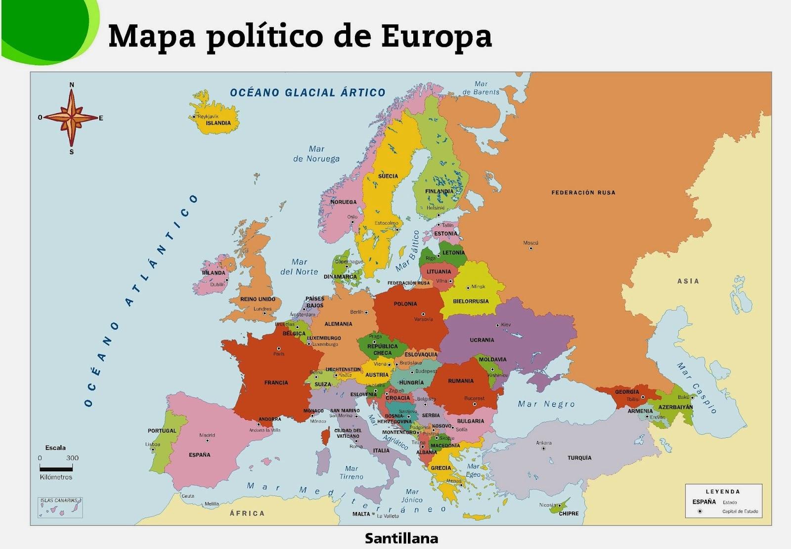 mapa da europa em ingles Infanta Catalina   6th course 2014/2015: Mapa político de Europa  mapa da europa em ingles
