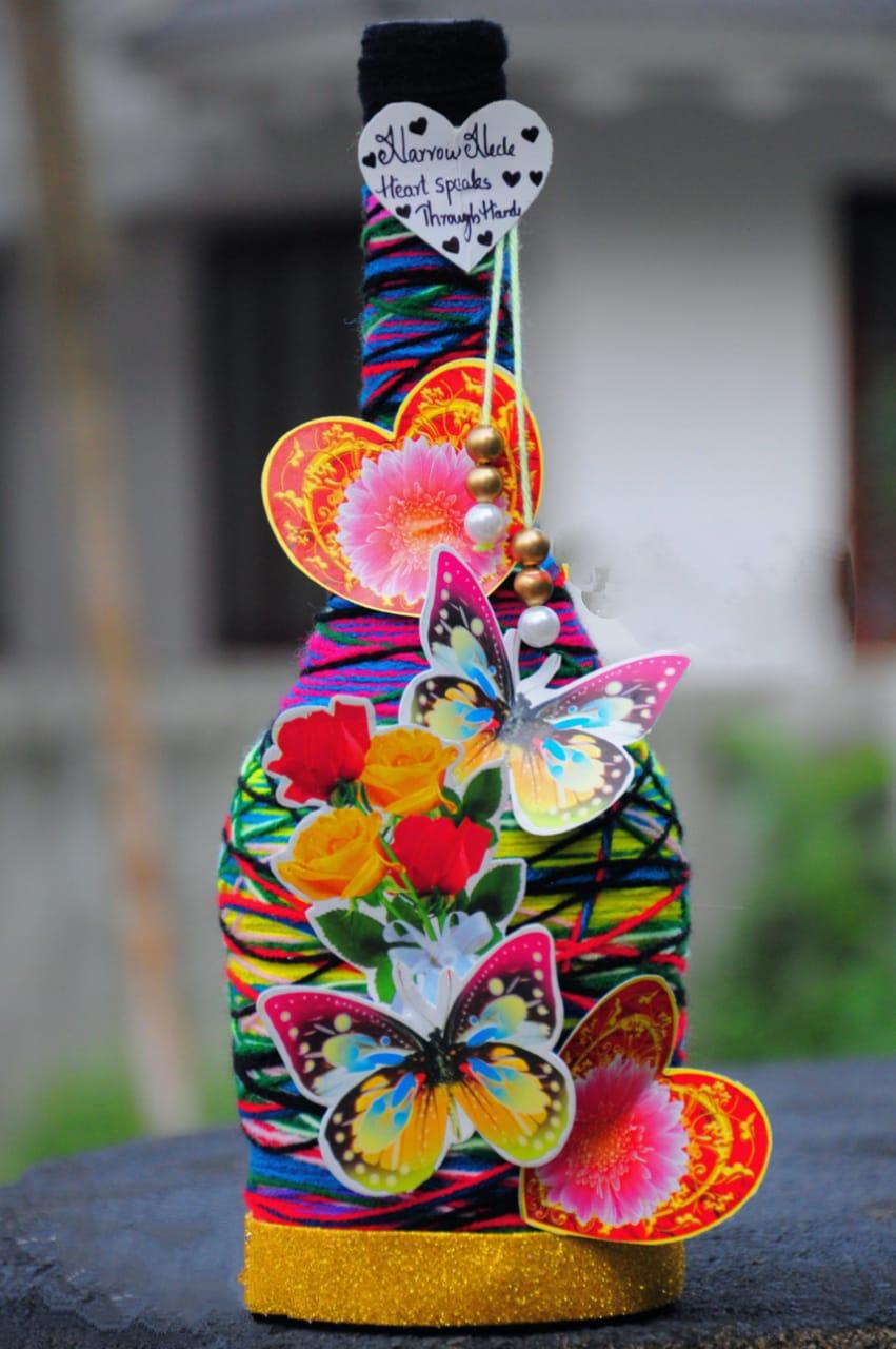 Butterflies bottle art