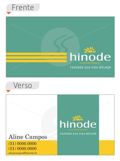 cartao de visita hinode marelo - Cartões de Visita Hinode