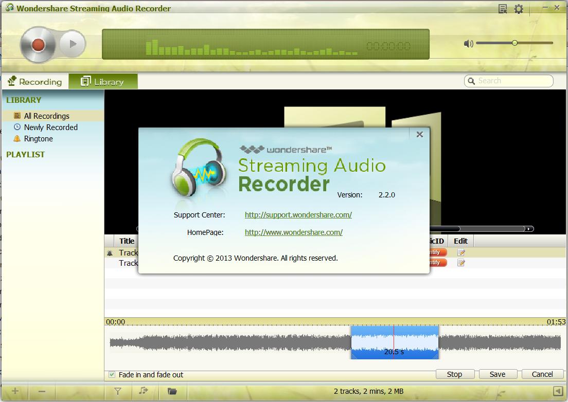 wondershare audio recorder crack