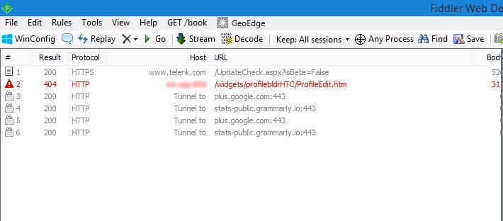 Sitecore Commerce Server Manager : Profile Definition 404