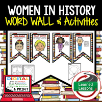Women's History Profiles & Activity Pages (History) Digital Google Option, Word Wall