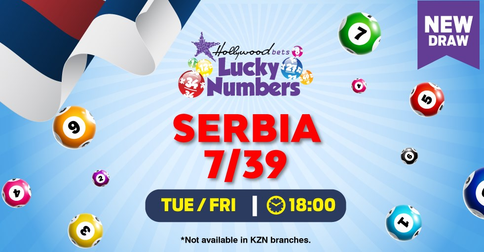 Serbia 7/39 and Serbia 7/39 PLUS Lotto draws - Hollywoodbets - Lucky Numbers - Tuesdays and Fridays at 18:00