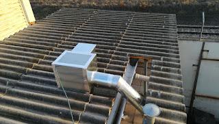 foto de una caja extracción 400º en cubierta