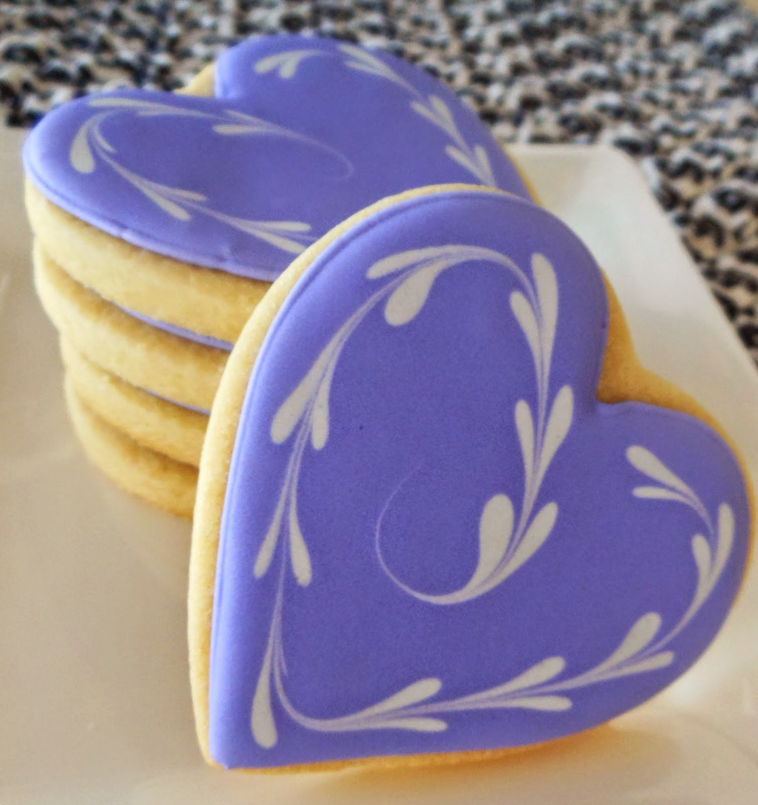 heart-shortbread-iced cookies