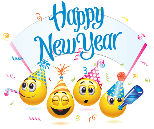 New Year Emoji And Emoticons 2019