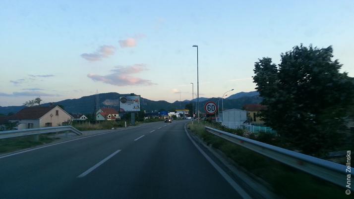 Дорога в Подгорицу, Черногория