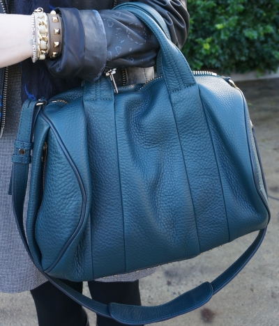 Away From the Blue Australian Personal Style blog Alexander Wang dark argon Rocco bag