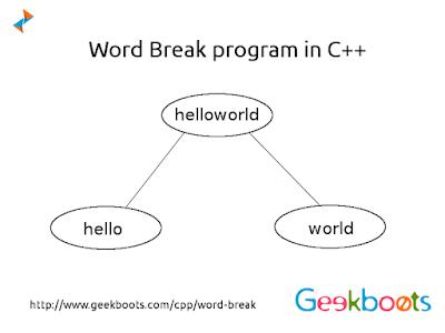 https://www.geekboots.com/cpp/word-break