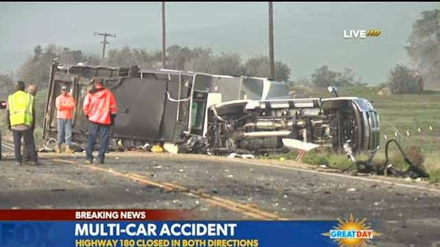 Fresno Visalia Bakersfield Accidents: Multiple Vehicle Accident on