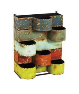 Cape Craftsmen Multi-Colored Stackable Metal Wall Planters