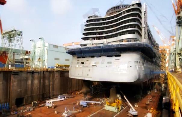 Δείτε σε timelapse πως κατασκευάζεται ένα κρουαζιερόπλοιο