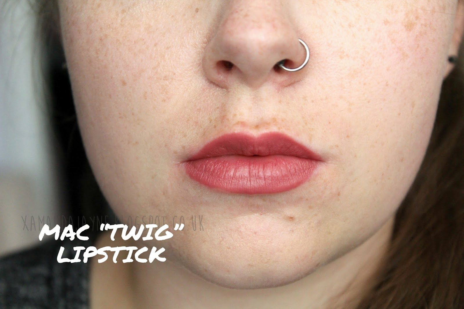 mac, review, lipstick, twig, high end, nude lipstick, swatches