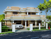 Evens Construction Pvt 2350 Sq. Feet Home Model In Kerala