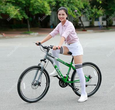 Xe đạp thể thao nữ SHIKA SK2 xanh