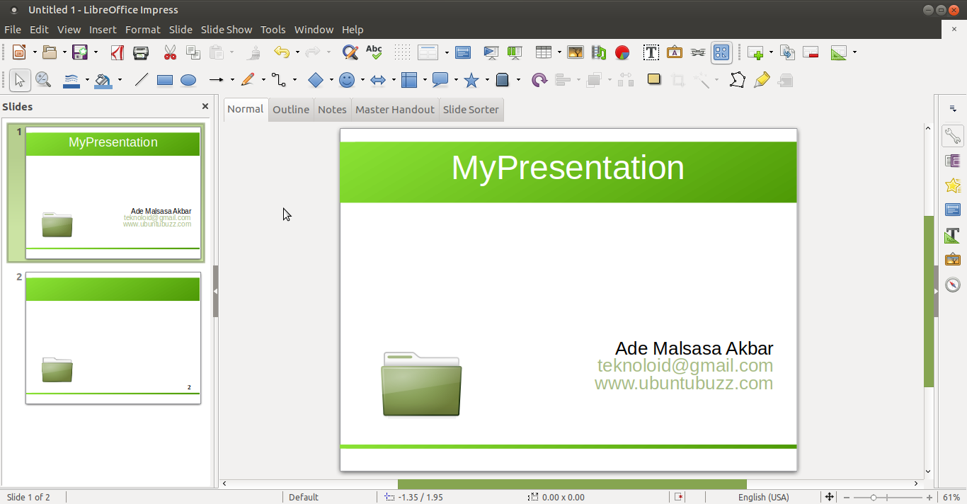how to create a template in libreoffice impress