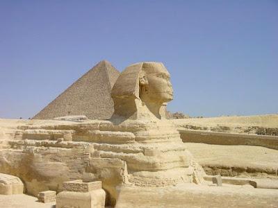 Giza Pyramid Complex in EGYPT