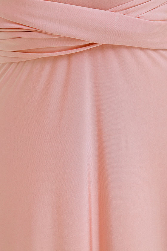 Stunning Blush Pink Maxi Dress