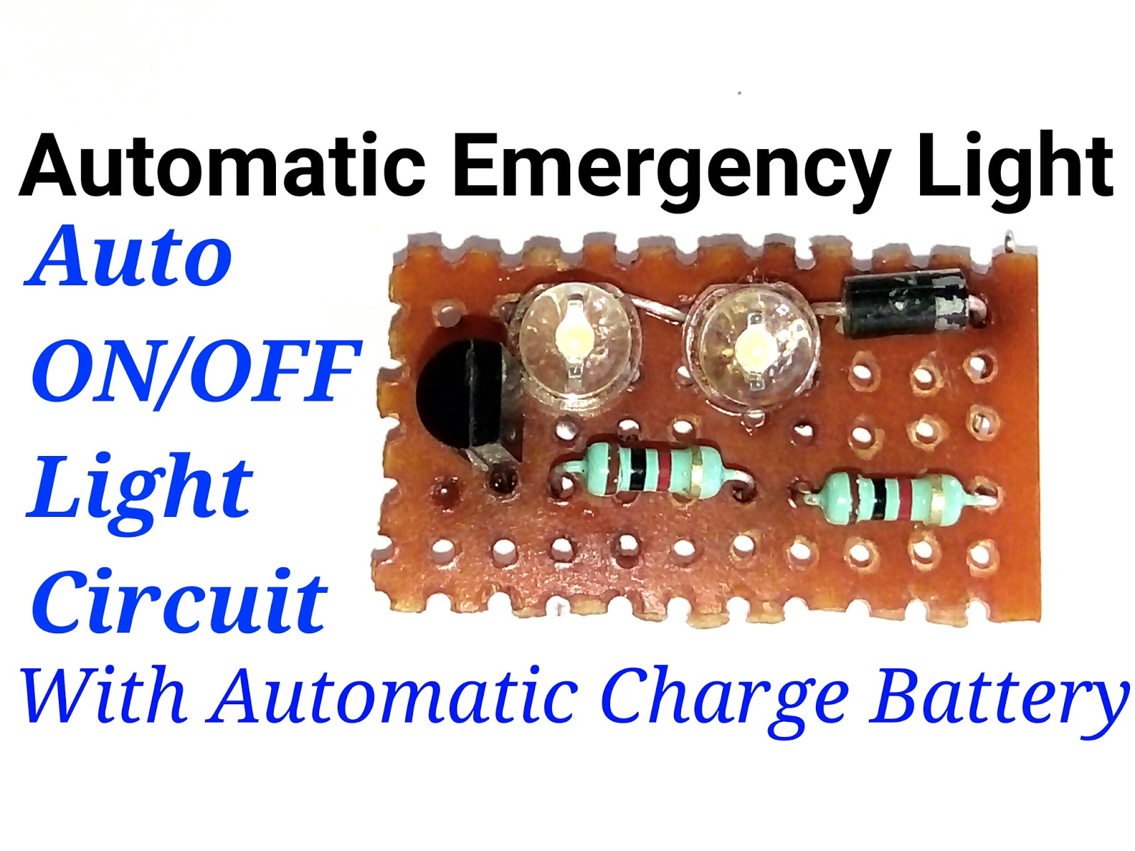 circuit diagram of 6v emergency light 4v or 6v automatic emergency light circuit diagram  4v or 6v automatic emergency light