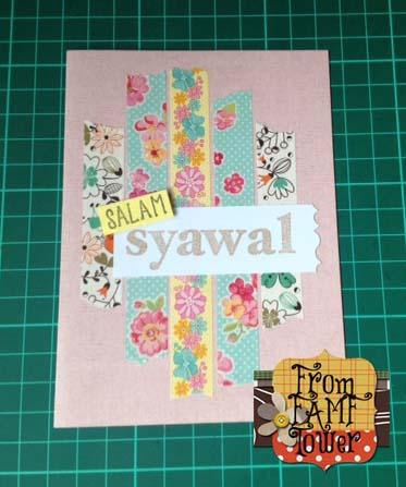 From Famf Tower Diy Kad Ucapan Menggunakan Washi Tapes
